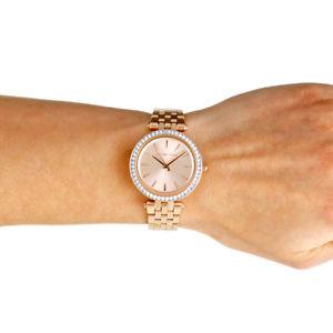 腕時計 ウォッチ マイケルウォッチミニオリジナルステンレススチールピンクゴールドreloj de pulsera mujer michael kors mini darci acero oro rosa original mk3366