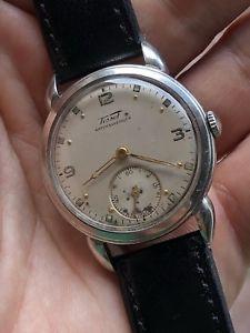 【送料無料】腕時計 ウォッチ ビンテージスイスアラームティソスチールマンケース1940s vintage tissot estuche de acero hecho en suiza reloj para hombre