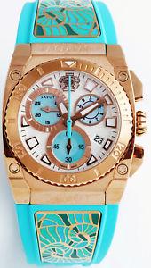 【送料無料】腕時計 ウォッチ レディクロノグラフクロノターコイズクビカnuevo anunciosavoy seora chronograph chrono nuevo turquesa rosgold pvp * 990,00 c4409e01grk15