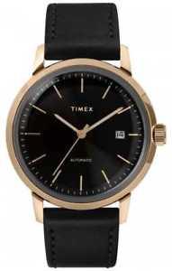 【送料無料】腕時計 ウォッチ オートブラックウォッチレザーストラップtimex correa de cuero negra automtica para tw2t22800 relojes