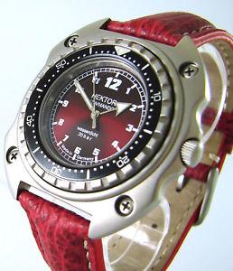 腕時計 ウォッチ コマンドドイツクロックビンテージデザインhctor mando tiburn rojo germany seores reloj nutico vintage design watch 20atm