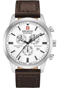 【送料無料】腕時計 ウォッチ スイスクロノクラシックサファイアガラスswiss military hanowa chrono classic 06430804001 reloj hombre zafiro cuero de vidrio