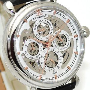 【送料無料】腕時計 ウォッチ トーマスアーンショーカレンダーグランドマンシルバークロックthomas earnshaw es804302 plata cuadrante reloj automtico para hombre calendario grand