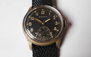 腕時計 ウォッチ ビンテージスイスアラームcaballeros vieja  bren militruhr dienstuhr 40er vintage funcionan swiss reloj