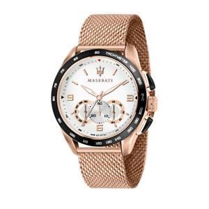 【送料無料】腕時計 ウォッチ マセラティマセラティクロノグラフピンクゴールドorologio cronografo uomo maserati traguardo r8873612011 oro rosa