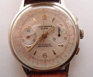 【送料無料】腕時計 ウォッチ アラームクロノグラフヴィンテージベルンジュネーブreloj crongrafo, suisse, 37mm vintage reloj de pulsera, swisse