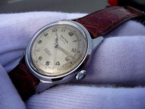【送料無料】腕時計 ウォッチ ワイラービンテージスチールケースwyler vetta vintage military all steel watch etanche case incaflex 40s amazing