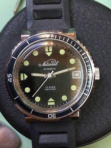 【送料無料】腕時計 ウォッチ ビンテージダイバーウォッチフランスソクリーブベゼルvintage rare diver watch national french soviet 23 rubis 26162h bakelite bezel