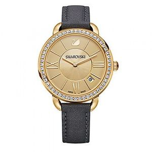 腕時計 ウォッチ スワロフスキーデイゴールドリングゴールドスイスorologio swarovski aila day gold tone 5221141 donna watch pelle nera oro swiss