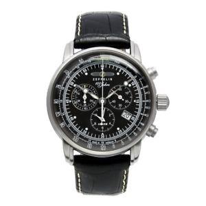【送料無料】腕時計 ウォッチ ツェッペリンツェッペリンクォーツクロノグラフアラームzeppelin 100 aos zeppelin cuarzo, 76802, chronograph alarma, negro