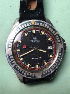 【送料無料】腕時計 ウォッチ ビンテージスキンダイバーミリmontre vintage seliva automatic skin diver 20atm acier fe 42mm couronne incluse