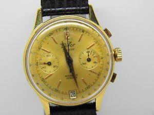 腕時計 ウォッチ プラークヴィンテージクロノchronographe  difor plaqu or mouvement landeron 189,vintage chrono