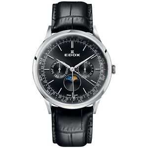 【送料無料】腕時計 ウォッチ スイスクロックedox hombres les vauberts 42mm fase lunar reloj hecho en suiza 40101 3c nin