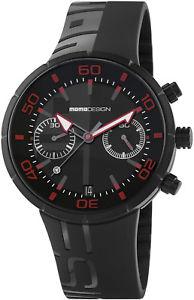 【送料無料】腕時計 ウォッチ アラームジェットブラッククロノブラックラバー