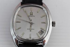 【送料無料】腕時計 ウォッチ orologio zenith automatico datario anni '70 uomo acciaio