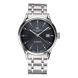 【送料無料】腕時計 ウォッチ カールフォンブレスレットアラームcarl von zeyten reloj para hombre de pulsera automtico eschenz cvz0002bkmb