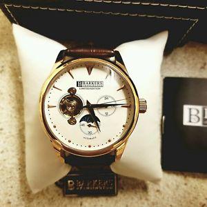 【送料無料】腕時計 ウォッチ ピンクゴールドケンジントンオートクロックインアボックスnuevo reloj para hombre barkers de kensington automtico en oro rosa en caja