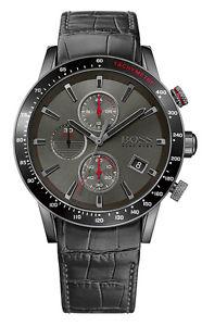 ヒューゴボスラファルクロノクロノグラフブラックレザーマンhugo 【送料無料】腕時計 reloj boss cuero chrono hombre chronograph 1513445 nuevo rafale negro ウォッチ