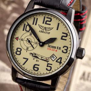 reloj 【送料無料】腕時計 ウォッチ aviator pilotos ruso reloj cccp 31051734388 アラームパイロットロシアアラームpoljot gastello ww2