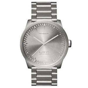 hombres アムステルダムスチールクロックleff ウォッチ reloj lt72101 amsterdam s42 para acero 【送料無料】腕時計 de