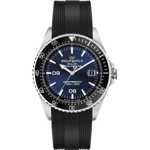 silicone 【送料無料】腕時計 swiss nero uomo made ウォッチ sealion philip watch blu r8251209001 フィリップアシカシリコーンネロブルスイスorologio