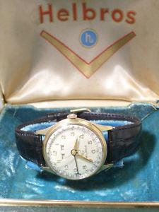 【送料無料】腕時計 ウォッチ ビンテージアールデコカレンダーボックスオンvintage art deco helbros calendar seores reloj de pulsera 1955 incl box
