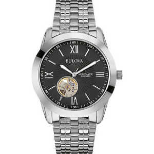 腕時計 ウォッチ スケルトンorologio uomo automatico bulova acciaio quadrante skeleton 96a158 listino 359