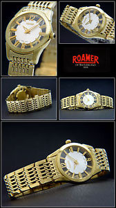 腕時計 ウォッチ ローマーブランドレディアラームスイスハードbonitos roamer seora reloj swiss made diversidad curvada duro dorado nuevo