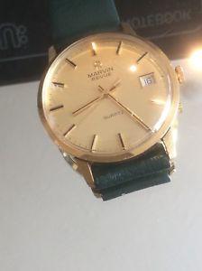 ソリッドゴールドナイツマーヴィンbuen cuarzo marvin slido caballeros 【送料無料】腕時計 en ウォッチ 9ct oro