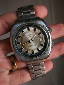 【送料無料】腕時計 ウォッチ ダイバーウォッチオートマチックストラップrare and huge sicura diver watch 25 jewels automatic , genuine strap