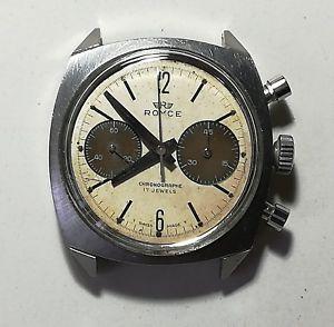 【送料無料】腕時計 ウォッチ ロイスヴィンテージクロノグラフメンズrare royce vintage chronograph mens