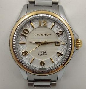 【送料無料】腕時計 for aceroamp;oro lady ヴィセロイスチールサファイアゴールドviceroy ウォッチ 4788800 sapphire