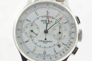 【送料無料】腕時計 ウォッチ クロノスチールビンテージstrela funcionan chrono 3133 acero bonito estado vintage