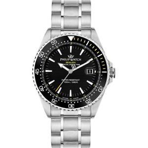 【送料無料】腕時計 ウォッチ フィリップアシカスイスorologio uomo philip watch sealion r8253209003 acciaio nero swiss made
