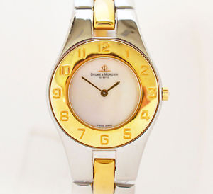 【送料無料】腕時計 ウォッチ ボーメメルシエラインクオーツステンレススチールbaume amp; mercier linea mv045183 cuarzo reloj de pulsera seora acero inoxidable parte dorado