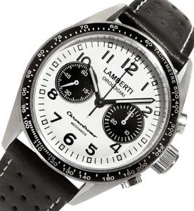 【送料無料】腕時計 ウォッチ クロノグラフlambertiorologiai mod 60508 nbz chronodromo  ottimo cronografo meccanico