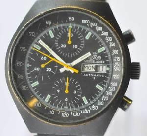 【送料無料】腕時計 ウォッチ ビンテージミリタリークロノグラフアンカーvintage anclaje maestro military chronograph pvd cal 7750