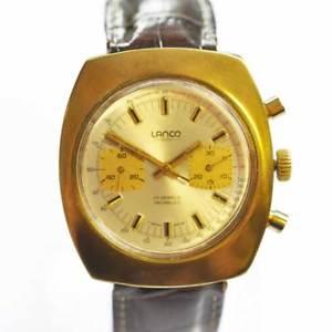 【送料無料】腕時計 ウォッチ スイスビンテージレーシングクロノグラフvintage lanco swiss racingchronograph dorado 1970 valjoux 7733 funcionan