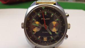 【送料無料】腕時計 ウォッチ クロノグラフアラームロシアウォッチワークpoljot chronograph reloj de pulsera reloj russia watch funcionan 23 jewels
