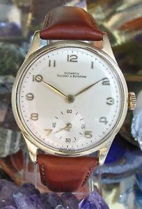 腕時計 ウォッチ ジョブクロックカップリングkゴールドreloj de trabajo duomatic ollivant amp; botsford 9 k oro hecho 1979 un ao de garanta