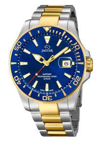 【送料無料】腕時計 ウォッチ ジャガーアラームエグゼクティブダイバースイスステンレススチールjaguar j863c reloj hombre executive diver swiss made bicolor de acero inoxidable nuevo