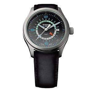 【送料無料】腕時計 ウォッチ オーロラアナログシルバーマンブラックレザーtraser h3 p59 aurora gmt silver reloj hombre 107231 analgico cuero negro
