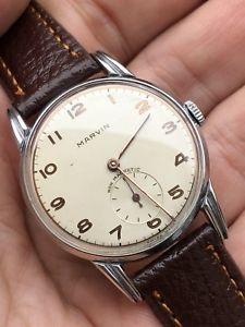 【送料無料】腕時計 ウォッチ マービンアラームマンビンテージラグprecioso 1940s marvin elaborado reloj hombre vintage vestido lugs cal 540 32mm