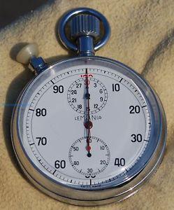 【送料無料】腕時計 ウォッチ ストップウォッチnuevo anunciomuy raro cronmetro negro lemania base 100 rattrappante