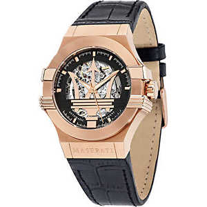 【送料無料】腕時計 ウォッチ マセラティマセラティポテンザクラシコタラorologio meccanico uomo maserati potenza classico cod r8821108002