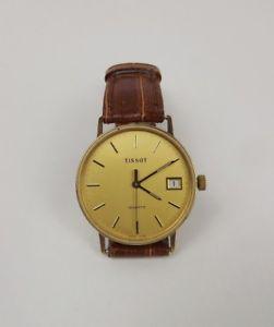 【送料無料】腕時計 ウォッチ ナイツゴールドクォーツティソreloj pulsera caballeros 9 ct oro cuarzo tissot c1984