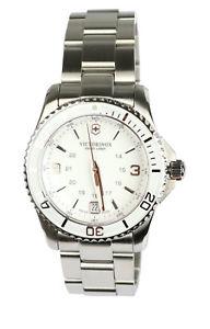 【送料無料】腕時計 ウォッチ アラームステンレススチールシルバーホワイトvictorinox seora reloj de pulsera reloj watch 241699 acero inoxidable plata blanco