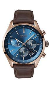【送料無料】腕時計 ウォッチ グランプリボスマンアナログタキメーターboss grand prix reloj hombre 1513604 analgico multifuncin, taqumetro de cuero marrn