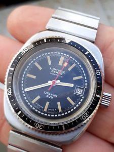 【送料無料】腕時計 ウォッチ ダイバービンテージドルフィンサブウォッチlorenz edox diver delfin sub eta 2783 vintage watch uhr montre water resistant
