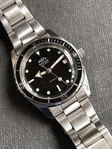 腕時計 ウォッチ ダイバーウォッチスチールビンテージブザンソンmaty besancon todo acero vintage para hombre diver watch 36,4mm eta 2472